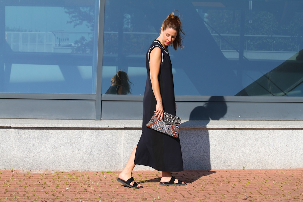 zara studio dress+bio sandal.descalzaporelparque