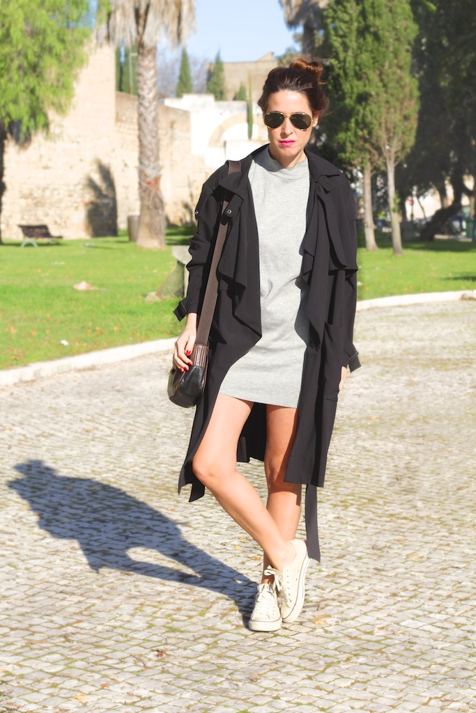 look-outfit-dress-grey-zara-converse-descalzaporelparque
