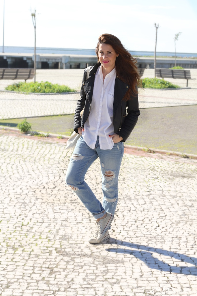 asos-jeans-perfect jacket-tote bag-converse-sneakers-fashion-blogger